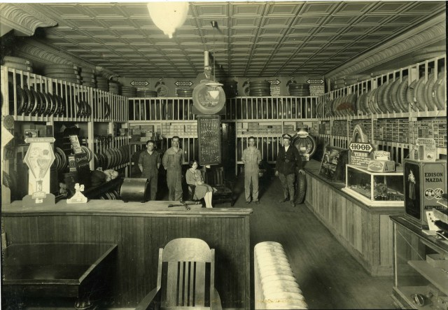 Darling's Tire Service in the mid 1920s- interior
