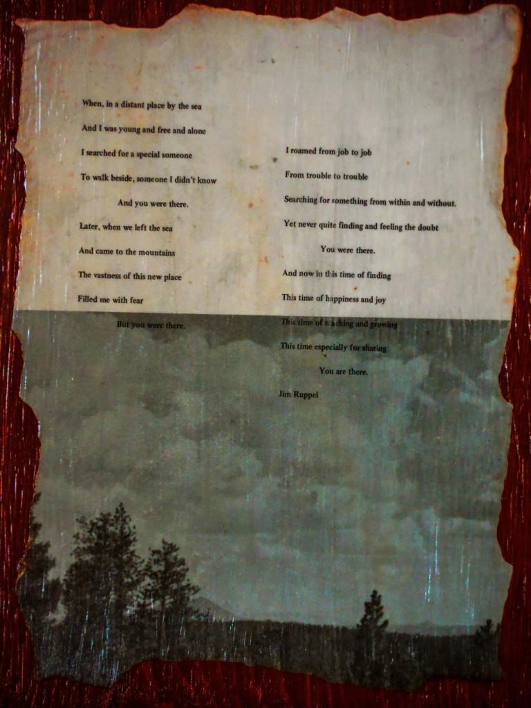 Poem by Jim Ruppel