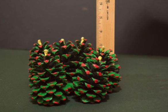 Painted Christmas Pine Cones