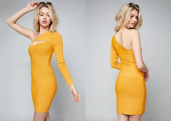 Bebe Briana One Shoulder Dress