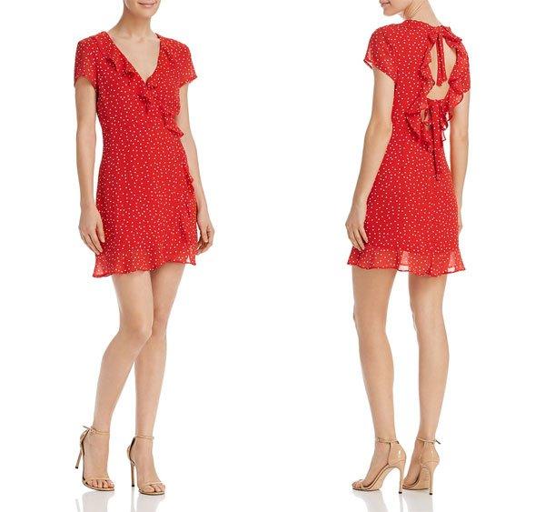 Bloomingdale's Open-Back Polka Dot Dress