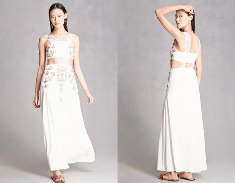 Floral Embroidered White Dresses At Forever 21