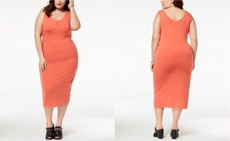 Macy's Trendy Plus Size Scoop-Neck Bodycon Dress