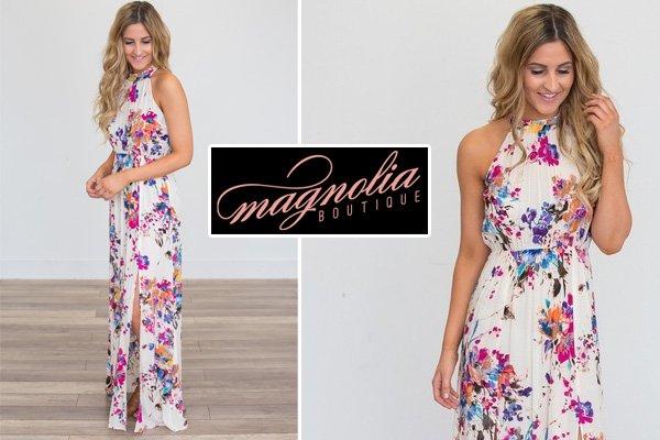 Magnolia Boutique Floral Maxi Dress