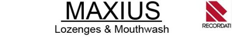 Maxius Lozenges & Mouthwash by Recordati Italy.