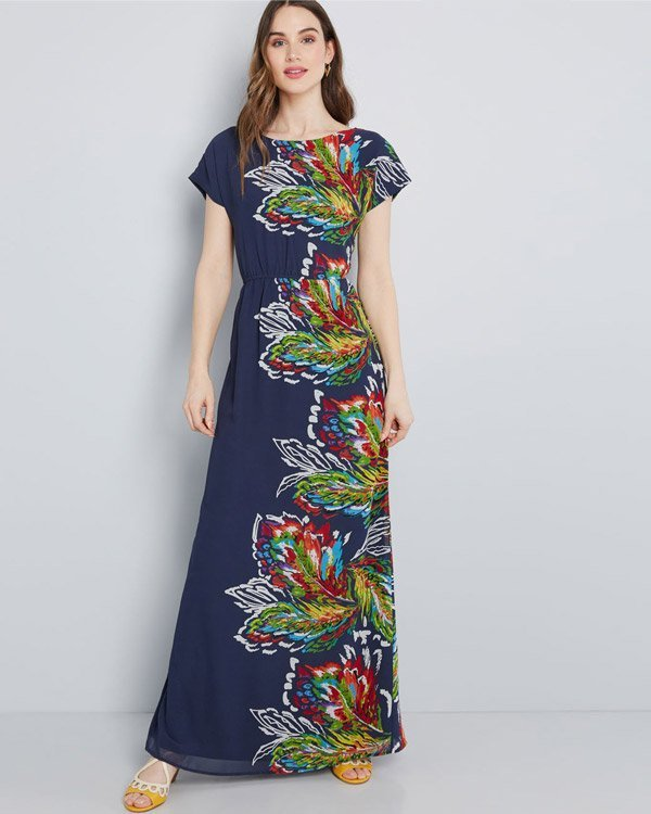 ModCloth Vintage-Inspired Printed Maxi Dresses for Women