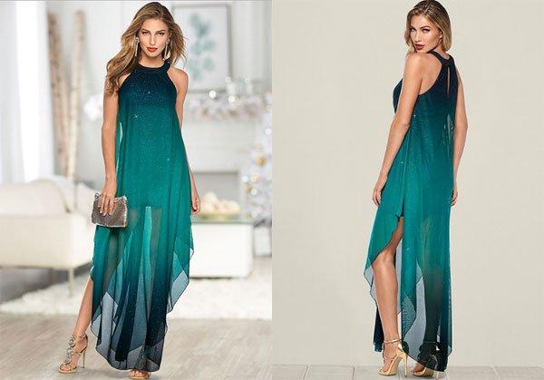 Venus Ombre Glitter Long Dress