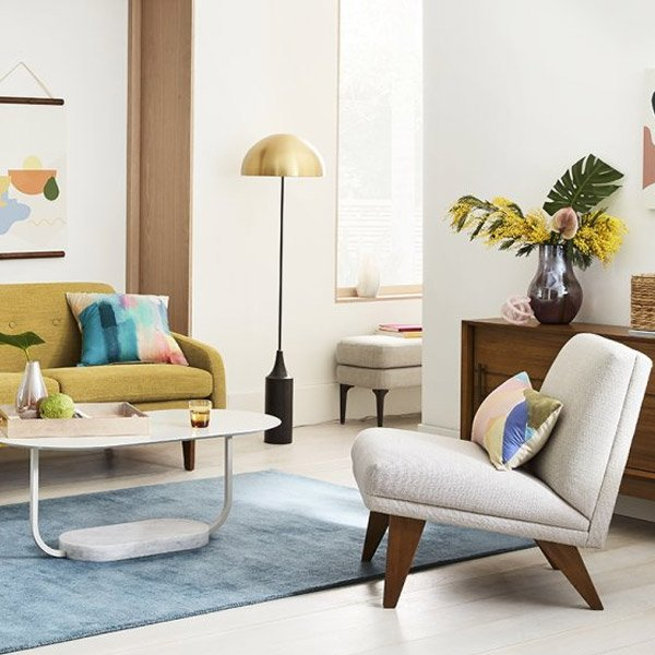 West Elm Modern Living Room Chairs