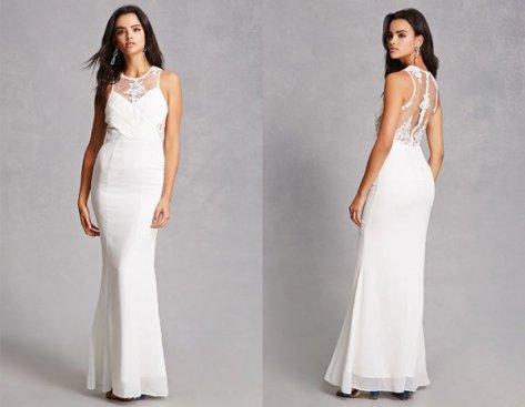 White Chiffon Maxi Dresses At Forever 21