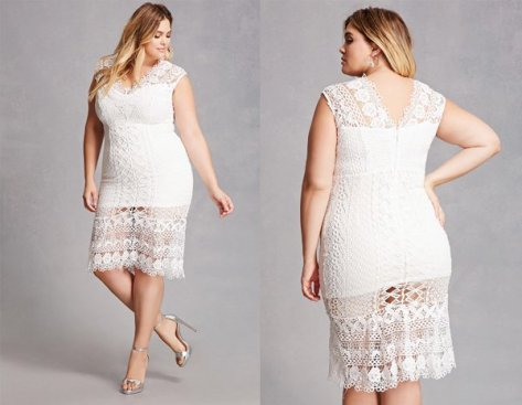 White Lace, Plus Size Dresses At Forever 21
