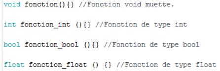 Exemple de fonction typés