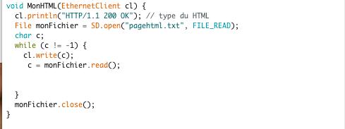 permet de restitué la page HTML