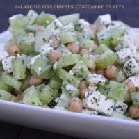 Salade de pois chiches, concombre & feta