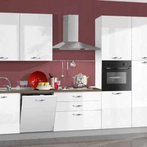 Cuisine équipée Sophia - Laqué Blanc 330 cm