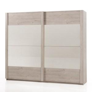 SNANI Chêne Pavia Garderobe 2 portes coulissantes 250 cm