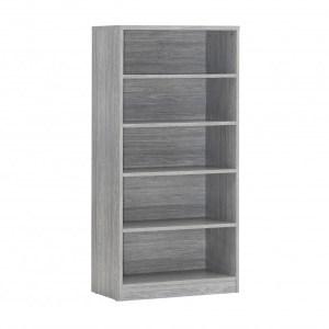 Bibliothèque Spacio 4 étagères Chêne grisH 148 x L 72 x P 36 cmMDF