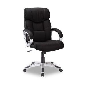 Chaise de bureau Dali PU NoirH 111/120 x L 65 x P 71 cmPieds métal et plastic