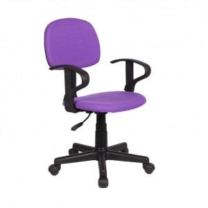 Chaise de bureau Happy PU nylon MauveH 80/88 x L 51 x P 39 cmPieds métal et plastic