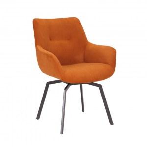 Chaise pivotante Modest Velours côtelé OrangeH 84 x L 63 x P 63 cmPieds métal