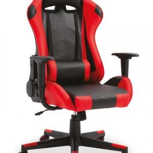 Chaise de jeubureau Eric Rouge/noirH 127 x L -W 53 x P 49 cmPieds métal et plastic
