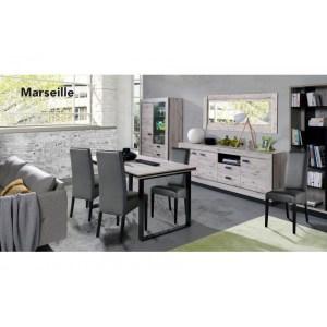 Marseille Salle à manger (Table + buffet + vitrine)