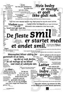 Citat plakat - De fleste smil starter med et andet smil