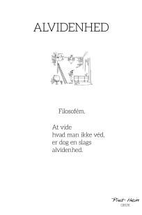 Piet Hein - Gruk - Alvidenhed