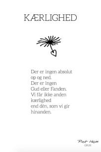 Piet Hein - Gruk - Kærlighed