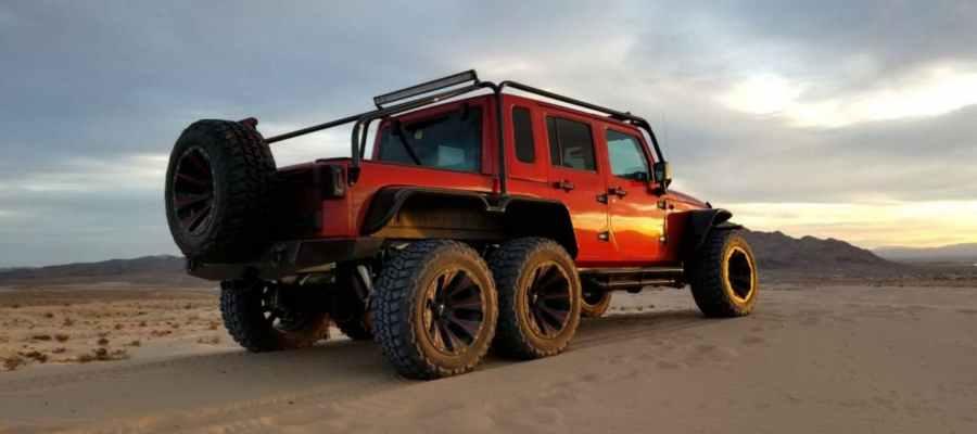 Jeep Wrangler Rubicon 6x6 con motor Hellcat
