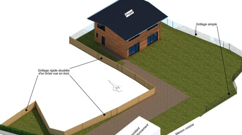 Projection 3D Vendée permis de construire maison