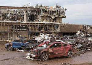 Moore Medical Center after 2013 tornado. No casualties still amazes me. AP Photo/Alonzo Adams