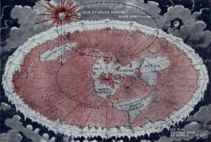 Flat-Earth-Society-Carte-de-la-Terre-plate-par-Wilbur-Voliva