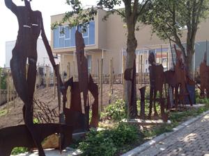 Kunstobjekte von Klaus-Dieter Urban am Tiefen Keller in Merseburg, planart4