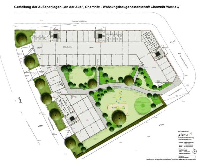 Objektplanung: An der Aue, Chemnitz