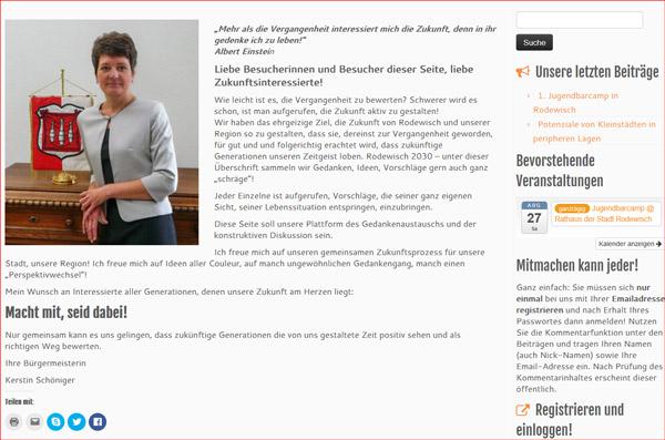 Grusswort von Frau Schöniger, Stadt Rodewisch