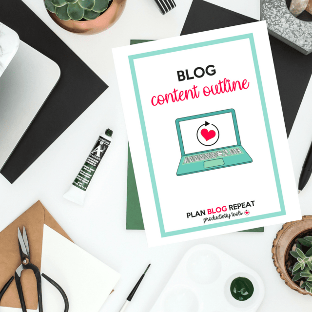 Blog Content Outline - Blog Planner Insert