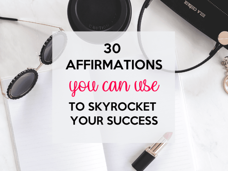 Write your affirmations and read them for successs.
