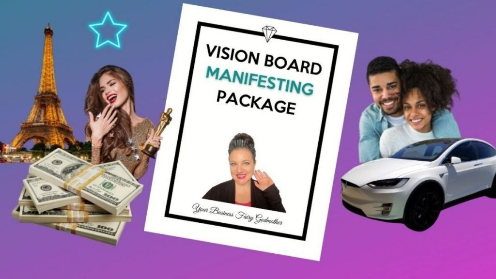 Vision Board Ideas Manifesting Package