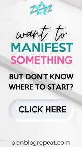 how to start manifesting