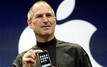 Steve Jobs en 2007 la celebración del iPhone