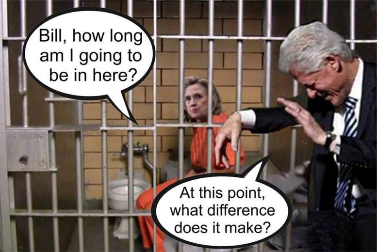 Image result for cartoons hillary clinton in jail cell