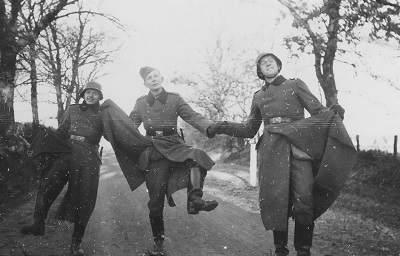 happy, dancing, singing Nazis
