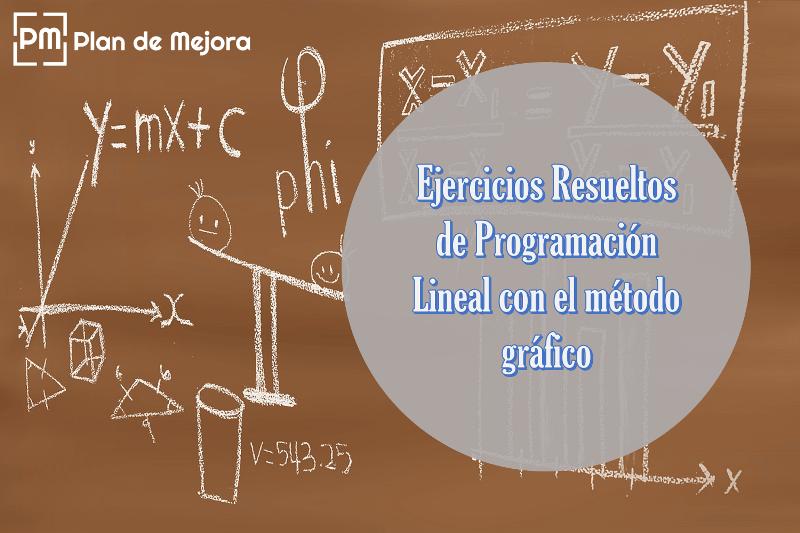 Ejercicios resueltos de programación lineal por el método gráfico