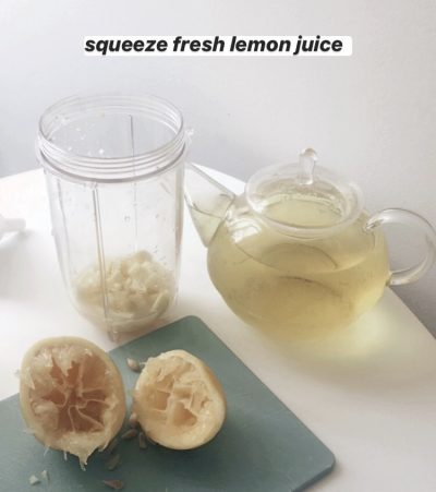 squeeze lemon juice