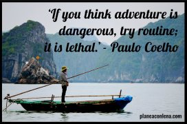 'If you think adventure is dangerous, try routine; it's lethal.' - Paulo Coelho