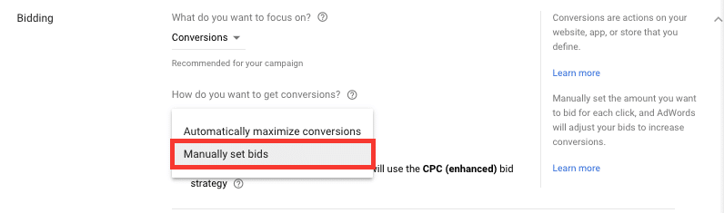 Manual Google Ads