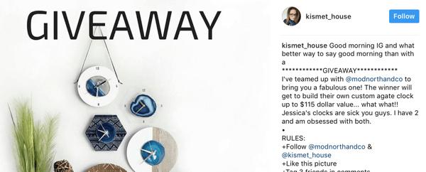 Concurso Patrocinado no Instagram