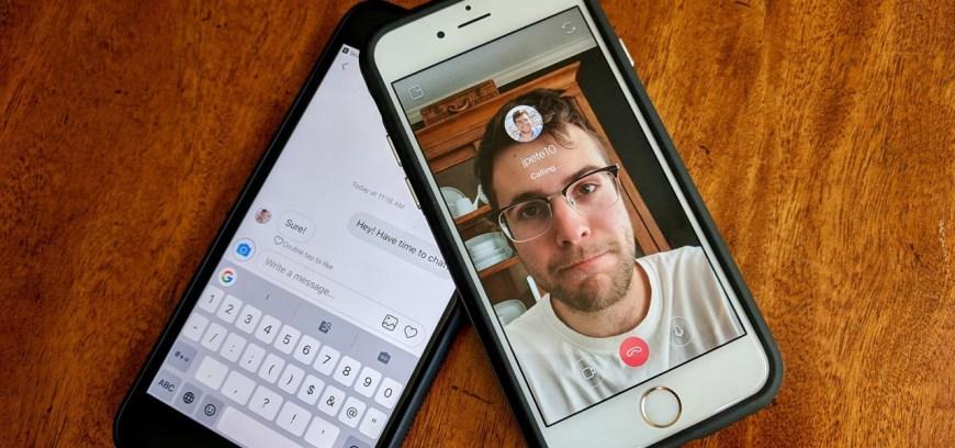fazer chamada de vídeo ao vivo no Chat do Instagram