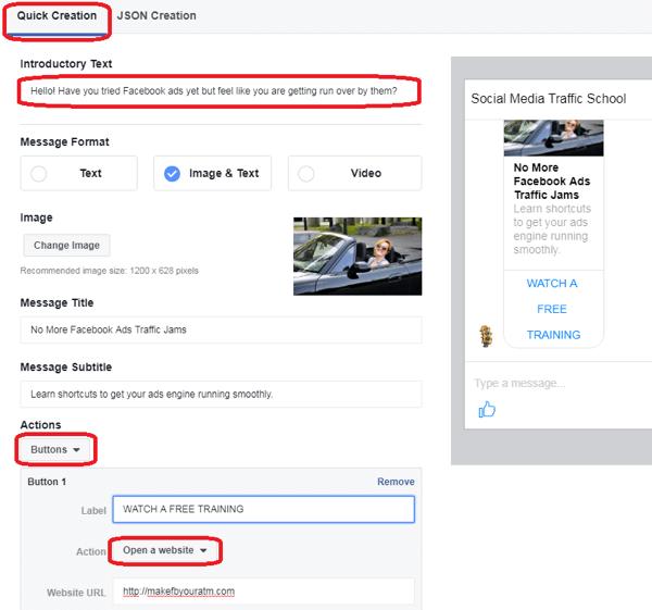 Mensagem Patrocinada Facebook 3