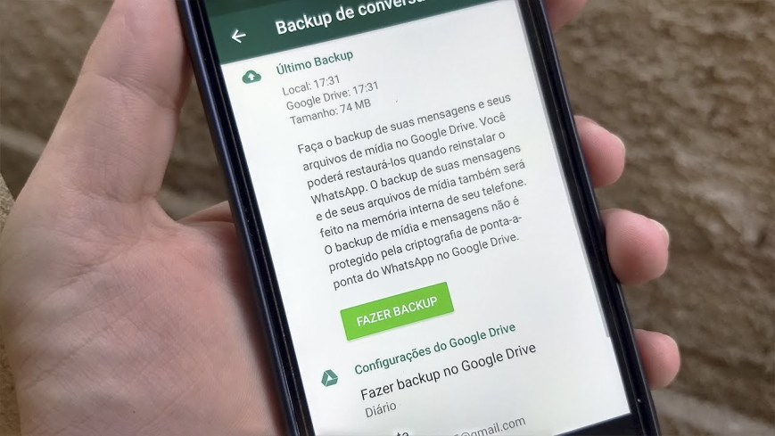 Como Fazer Backup De Conversas Do Whatsapp
